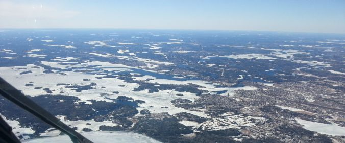 Devil's Gap and downtown Kenora.